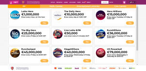 Lottery vertical at Vbet